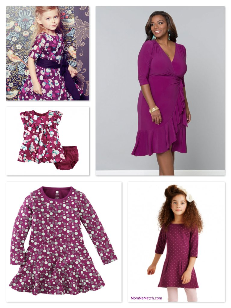 d00240374e8 Plus Size Mommy and Me Matching Holiday Outfits in Berry Orchid