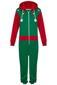 Adult Elf Christmas Pajama Onesie