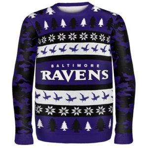 Baltimore Ravens Wordmark Ugly Sweater
