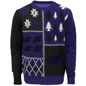 Baltimore Ravens Youth Ugly Sweater
