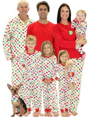 Christmas Ornaments Family Matching Pajamas