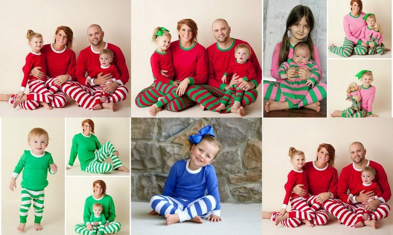 Custom Appliquéd Christmas Pajamas for the family