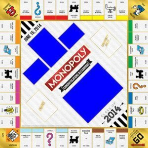 Custom family board games family fun holiday gifts for Custom monopoly board template
