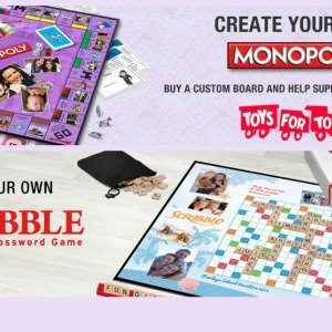Custom Monopoly and Scrabble Boards