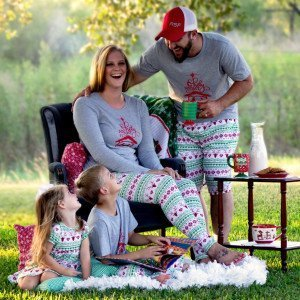 Family Christmas Reindeer Pajamas
