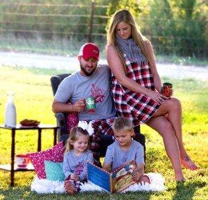 Family Christmas Reindeer Plaid Pajamas