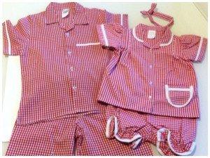 Family Matching Red Gingham Christmas Pajamas