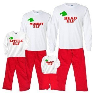 Family of Elves Matching Family Christmas Pajamas
