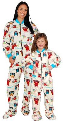 I'm Owl Yours Family Matching Footed Pajama