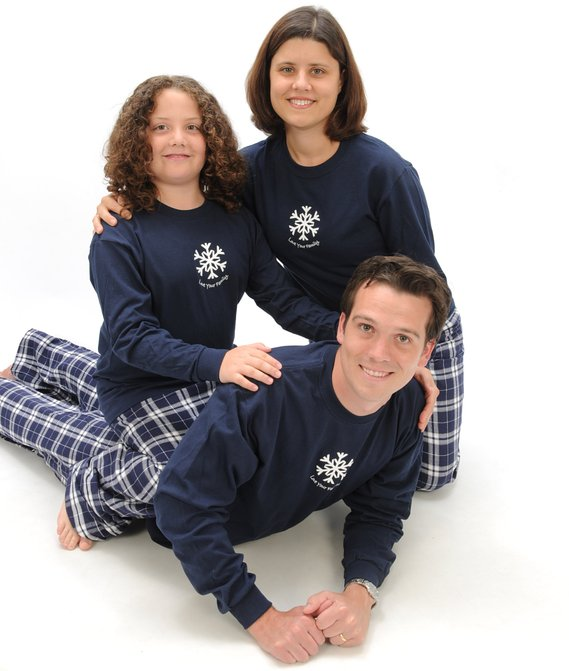 Love Your Family Winter Snowflake Matching Family Pajamas