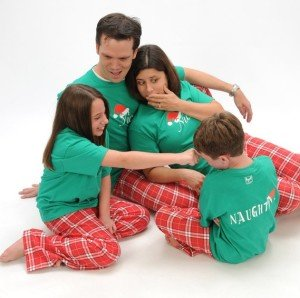 Matching Family Naughty & Nice Short Sleeve Christmas Pajamas