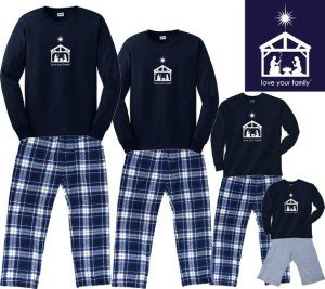 Nativity Scene Matching Family Pajamas