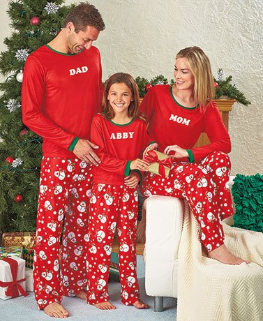 Personalized Christmas Snowman Pajamas