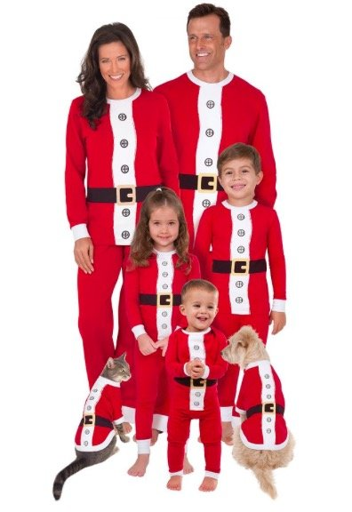 Santa Suit Matching Pajamas for the Whole Family