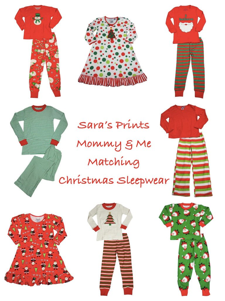 Sara's Prints Mommy & Me Matching Christmas Sleepwear