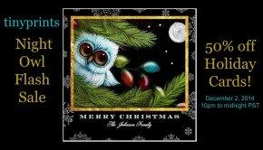 Tiny Prints Night Owl Flash Sale