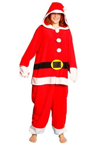 Adult Santa Onesie Pajamas