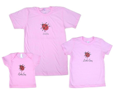Lady Bug, Little, or Baby Bug US Made Cotton Shirt
