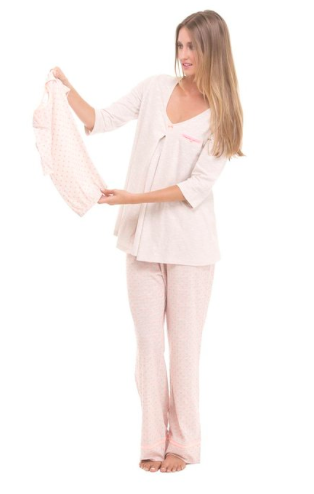 Olian 3pc Nursing Pajama Set, Valentines Day Matching Mommy and Me Pajamas