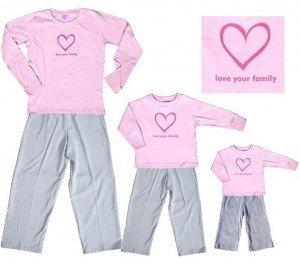 Pink Sweet Snuggles Love Your Family Heart Clothing Set