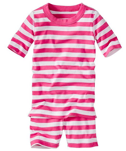 Short John Pajamas In Organic Cotton Valentines Day