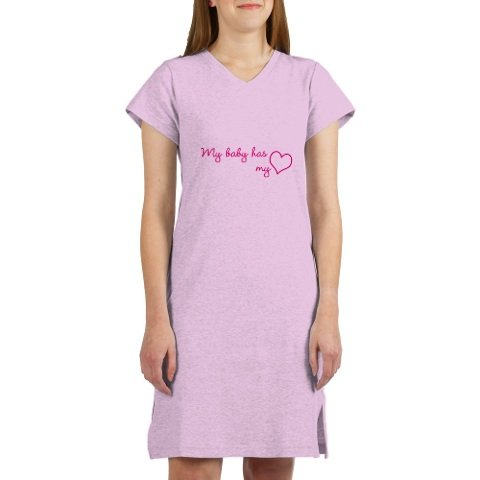 Womens My Baby has my Heart Nightshirt