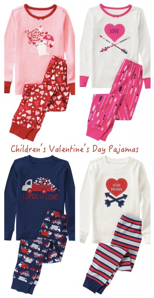 childrens valentines day pajamas
