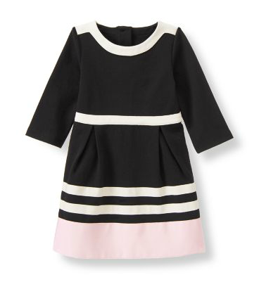 Colorblock Dress Black & Blush Dress, Mother Daughter Matching Special Occasion Dresses