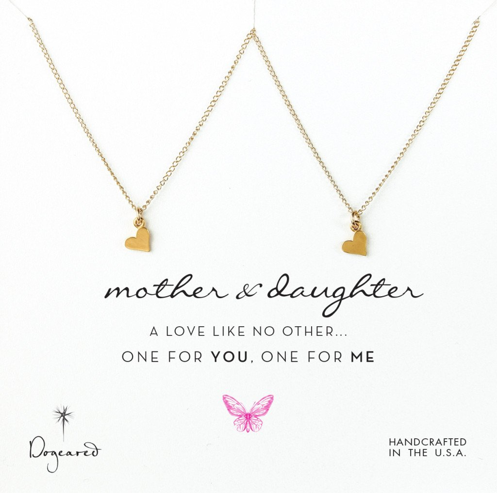 Gold Plated Sterling Silver Mother Daughter Matching Heart Neckalces, Mom and Me Wear Our Hearts