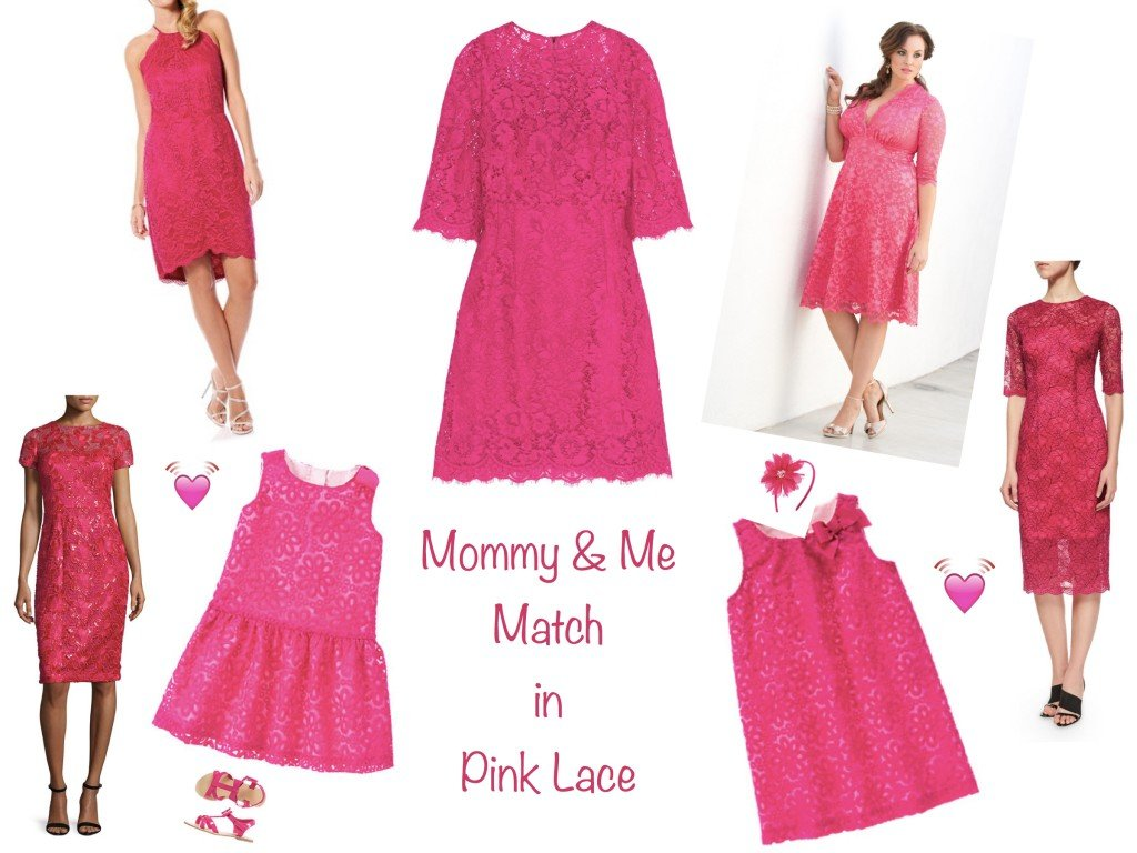 Mommy and Me Match in Pink Embroidery & Lace