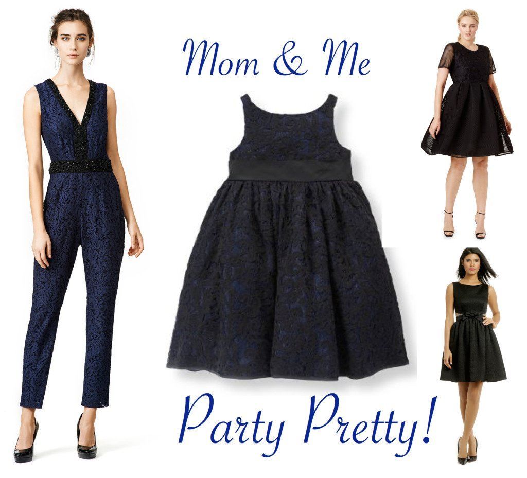 Mother Daughter Special Occasion Dresses in Black & Blue
