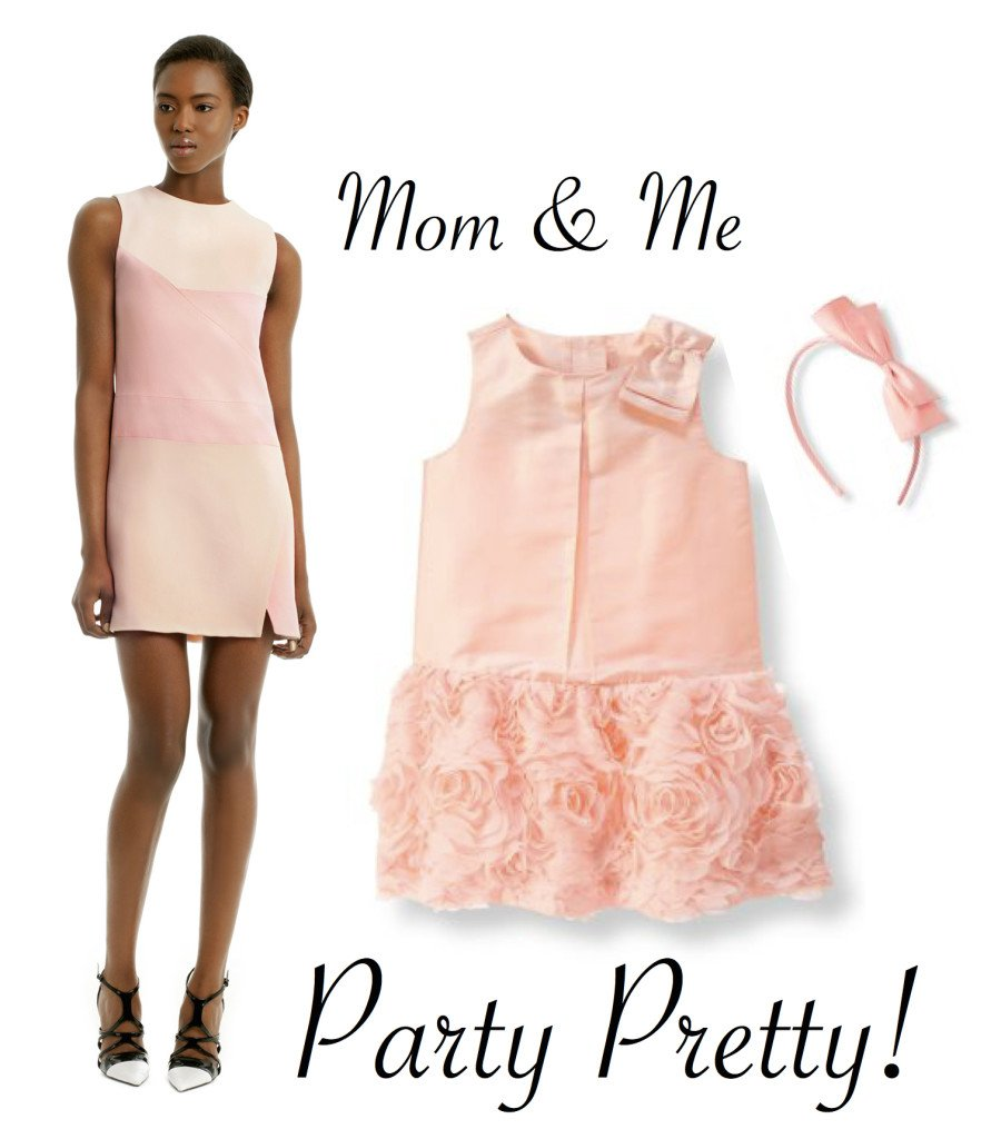 Mother Daughter Special Occasion Dresses in Blush