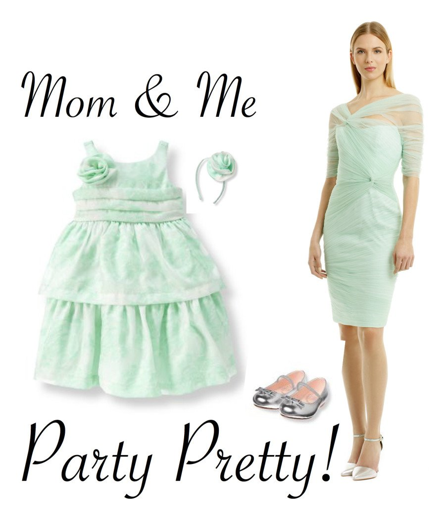 Mother Daughter Special Occasion Dresses in Mint