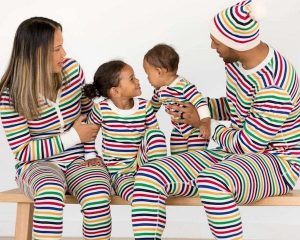Bright Stripes Family Matching Pajamas