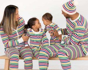 Bright Stripes Family Matching Pajamas