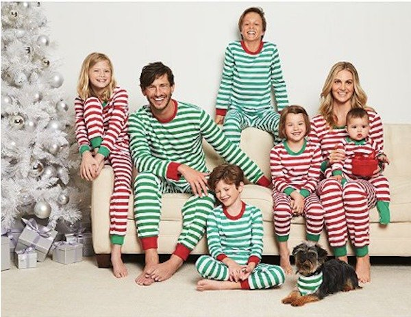 Family Matching Holiday Stripes Pajamas