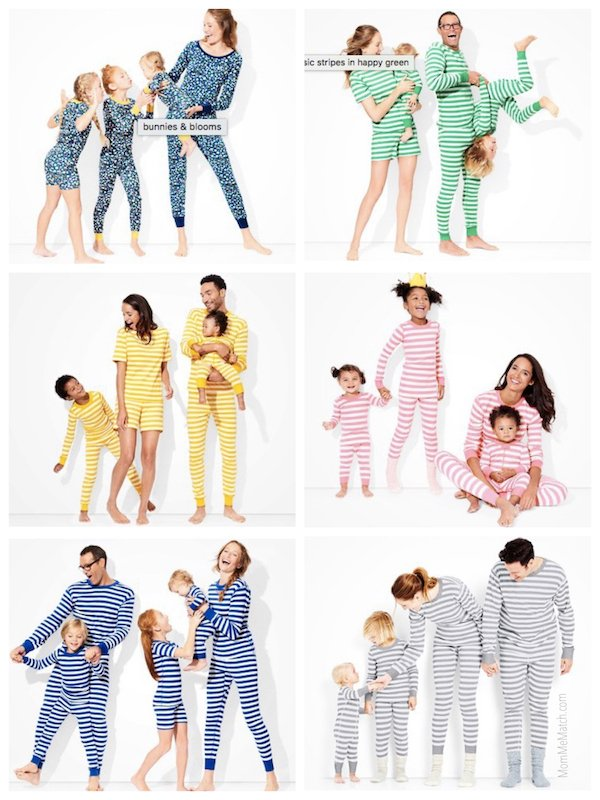 Family Matching Spring Summer Pajama Collection