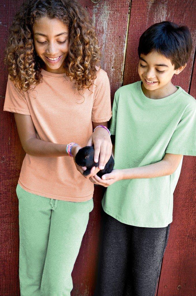 Kids 100 Recycled Fiber Fleece Pant in Pistachio,Matching Family Recycled Fiber Fleece Outfits