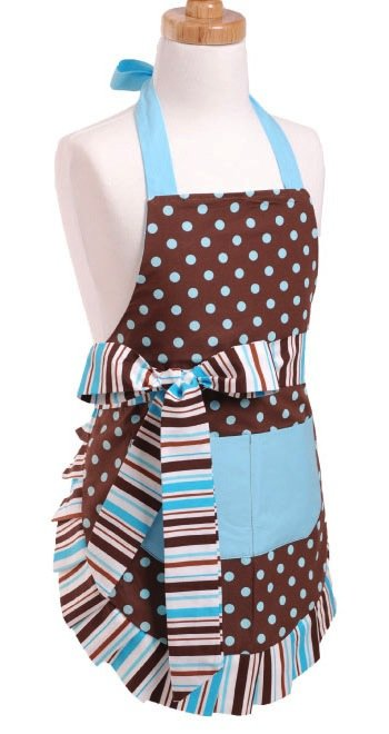 Girls Blue Chocolate Apron