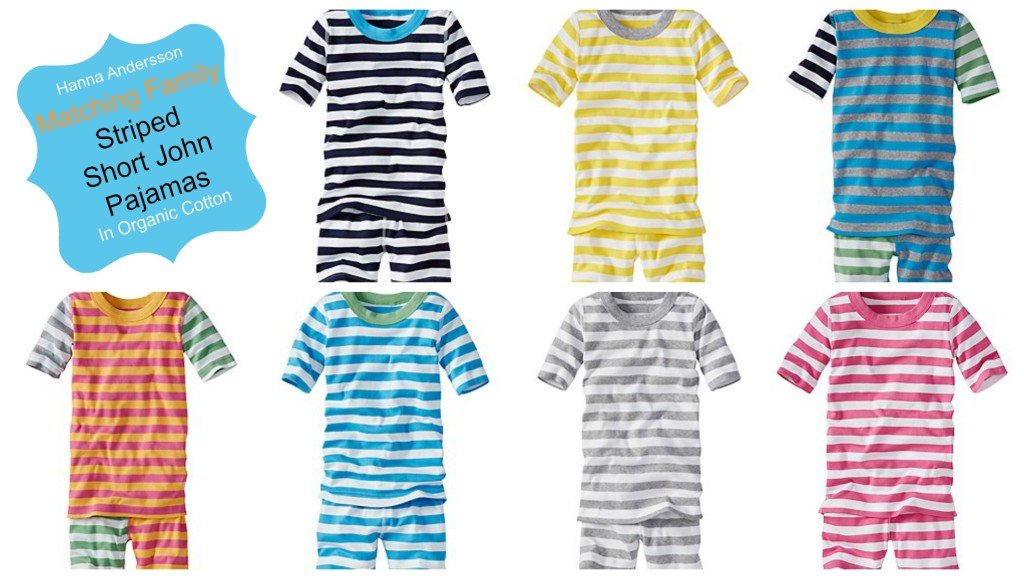 Matching Family Striped Short John Pajamas
