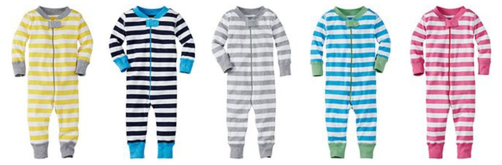 Organic Cotton Striped Baby Sleepers