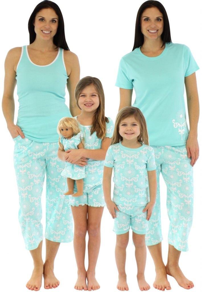 SleepytimePjs Blue Simply Pretty Mother Daughter Matching Pajamas