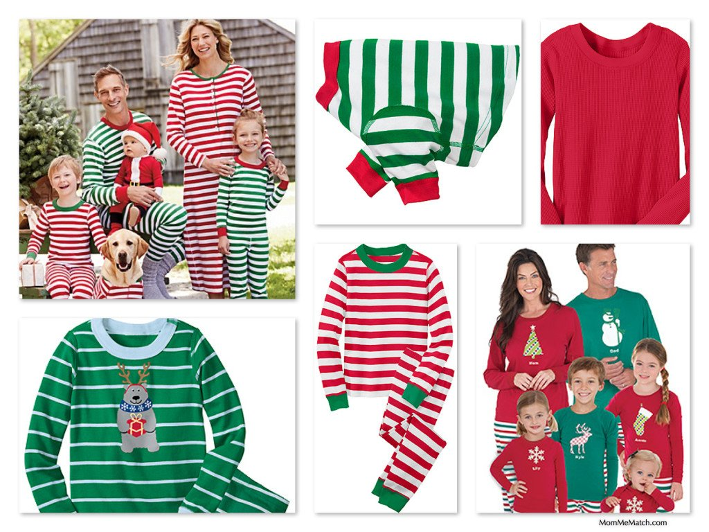 Very Merry Christmas Stripes Red & Green Matching Family Pajamas