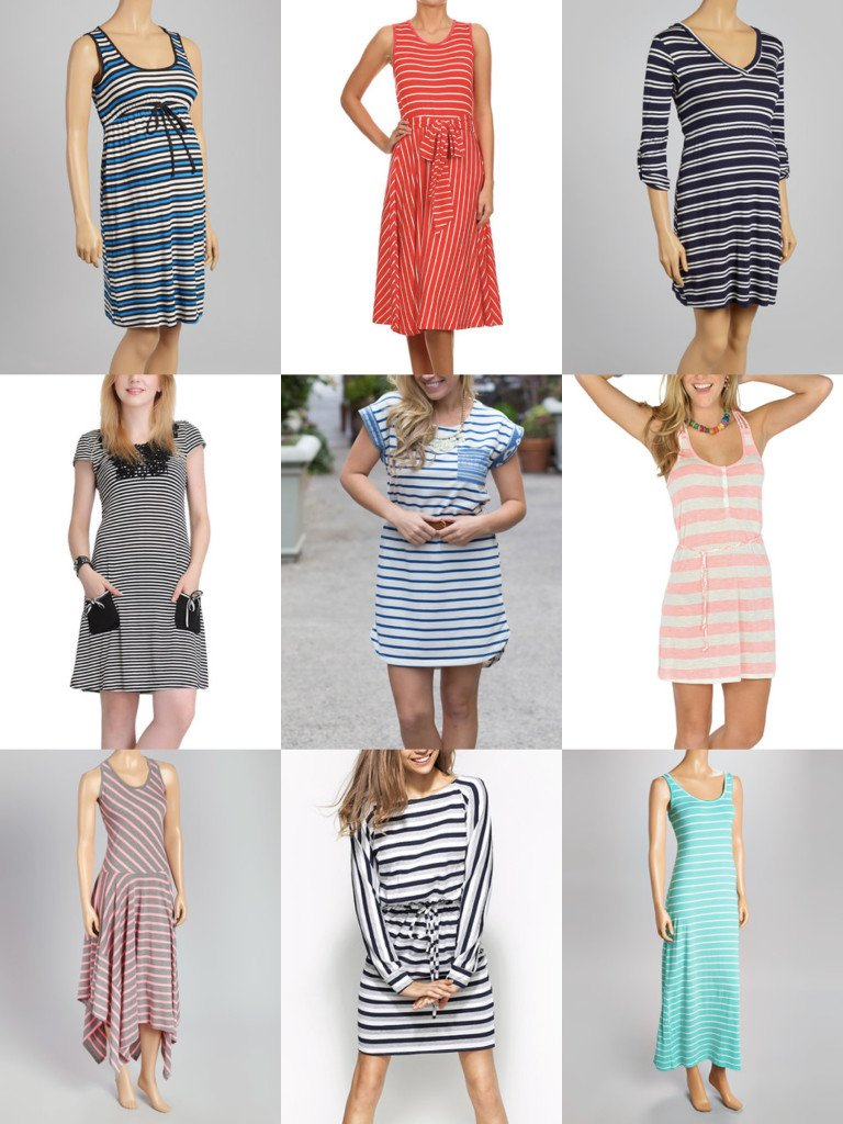 Womens Striped Dresses