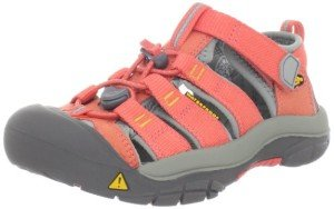KEEN Newport H2 Sandal kids hot coral and yellow