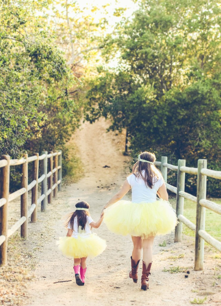 Mommy and Me Matching Yellow Tutu Sets, Mother Daughter Matching Tutus