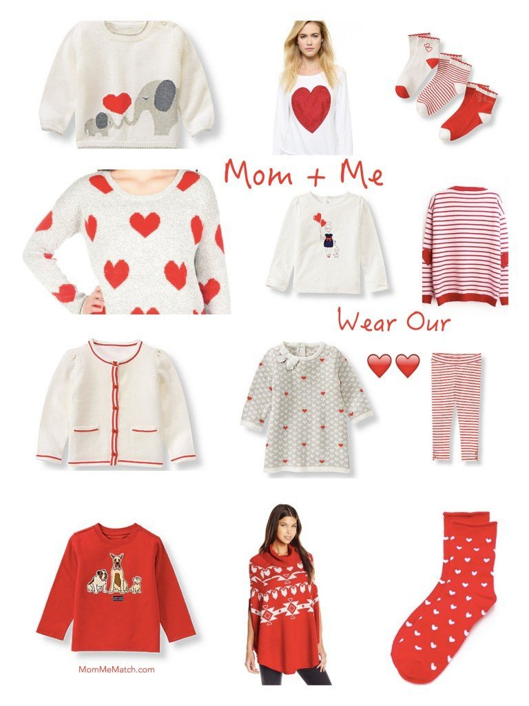 Mom and Me Wear Our Hearts