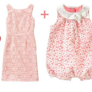 Mother Daughter Matching Embroidered Organza Outfits