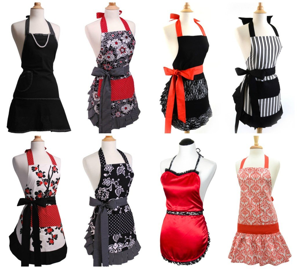 Black & Red Aprons for Mom