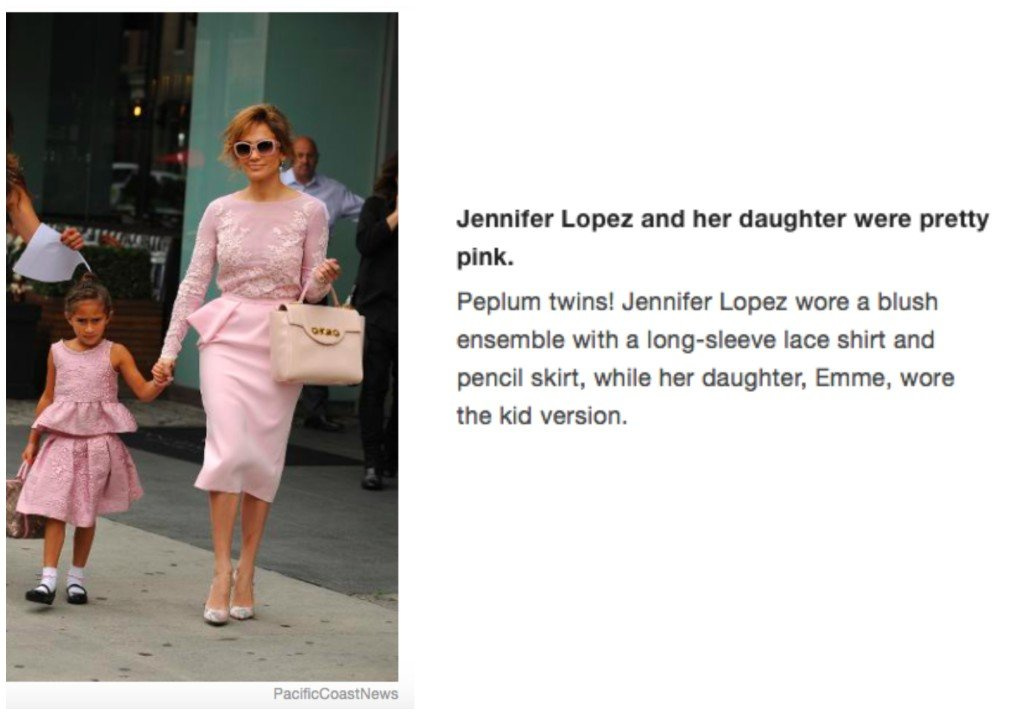 Celebrity Mother Daughter Matching Outfits_Jennifer Lopez